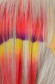 Hair with multi-coloured strand — Stock Photo
