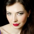 Portrait of the beautiful elegant girl with an evening make-up — Stock Photo