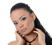 The girl the mulatto with a beautiful make-up — Stock Photo