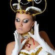The girl-dancer in a costume of the empress - Stockfoto