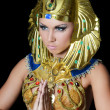 Royalty-Free Stock Photo: The girl-dancer in a costume of the Pharaoh
