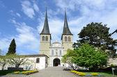 Luzerne - Hofkirche cathedral, Switzerland — Stock Photo