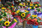 Flowers in street market — Stock Photo