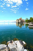 Chillon Castle at Geneva lake in Switzerland. — Stock Photo