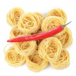 Italian pasta tagliatelle nest isolated on white background — Stock Photo #20187807