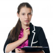 Portrait of the young beautiful businesswoman — Stock Photo #20976369