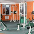 Sports hall with training apparatus — Stock Photo