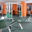 Sports hall with training apparatus - Stock Photo