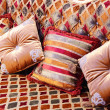 Beautiful pillows on a magnificent sofa — Stock Photo