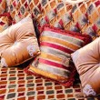 Stock Photo: Beautiful pillows on magnificent sofa