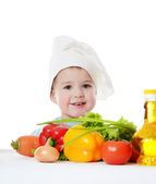 The little boy in a hat of the cook — Stock Photo