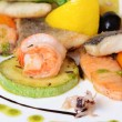 Allsorts from fish and seafood. A restaurant dish — Stock Photo #22552183