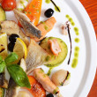 Allsorts from fish and seafood. A restaurant dish — Stock Photo #22552185