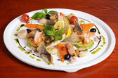 Allsorts from fish and seafood. A restaurant dish — Stock Photo