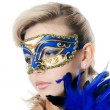 The beautiful girl in carnival mask — Foto de stock #23204912