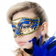 The beautiful girl in carnival mask — Stockfoto #23204912