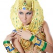Girl-dancer in costume of Pharaoh — Stock Photo #24434225