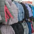 Winter jackets in a supermarket — 图库照片 #2471423