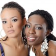 Stock Photo: Girl mulatto and black girl