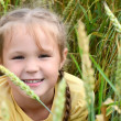 Little girl in wheaten field — Stock Photo #30431477