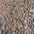 Cobblestone road close up — Stock Photo