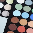 Stock Photo: Palette eye shadow close up
