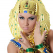 The girl-dancer in a costume of the Pharaoh — Stock Photo #32959015