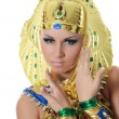 The girl-dancer in a costume of the Pharaoh — Stock Photo