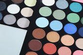 The palette eye shadow close up — Stock Photo