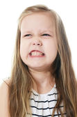 The little girl with emotions on the face — Stock Photo