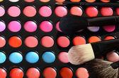Palett av ögonskugga på nära håll — Stockfoto
