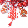The christmas tree ornaments  — Stockfoto