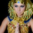 The girl-dancer in a costume of the Pharaoh — Stock Photo #35246647