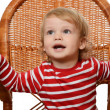 The little boy in an armchair — Stock Photo