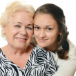 The elderly woman with grand daughter — Stock Photo #35247065