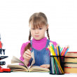 The little girl learn — Stock Photo