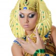 The girl-dancer in a costume of the Pharaoh — Stock Photo #35247359