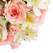 Bouquet of beautiful flowers a background — Stock Photo
