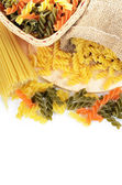 Uncooked pasta spaghetti macaroni — Stock Photo