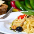 Paste Fettuccine — Stock Photo #41664563