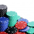 Stock Photo: Casino chips isolated on white