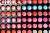 Palette of eye shadow close up — Stock Photo