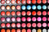 Palet van oogschaduw close-up — Stockfoto