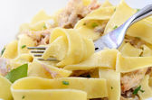 Pappardelle with a rabbit — Stock Photo