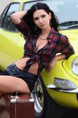 Woman near to car — Stock Photo