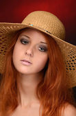 A photo of the beautiful sensual woman with red hair — Stock Photo