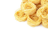 Italian pasta tagliatelle nest — Photo