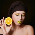 Beautiful woman in  turban — Stock Photo #50802559