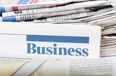 Business newspaper — Stock Photo