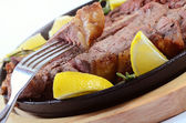 Stake from mutton — Stock Photo